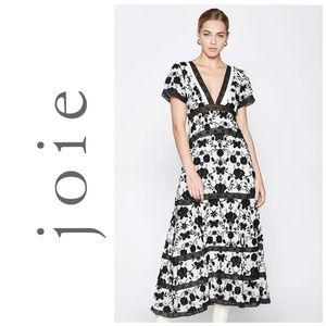 Joie Fusca Floral Embroidered Maxi Dress
